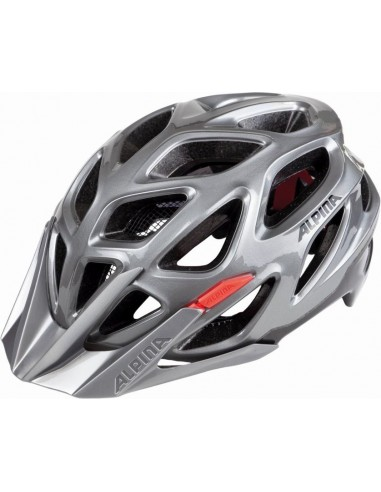 Alpina Mythos 3.0 kask rowerowy - Darksilver - Black - Red
