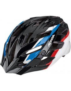 Alpina Panoma kask rowerowy - Black Blue Red