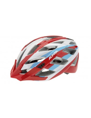 Alpina Panoma kask rowerowy - Red Silver Blue
