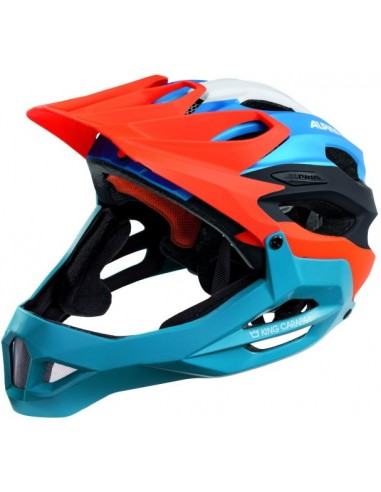 Kask rowerowy do Downhillu Carapax Alpina - Orange Blue